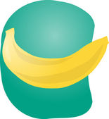Banana fruit illustration — Stock Photo