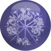 Snowflake globe — Stock Photo