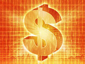 US dollar chart — Stock Photo