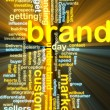 Brand marketing wordcloud glowing — Stock Photo #2098319