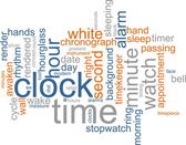 Clock word cloud — Stok fotoğraf