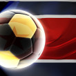 Flag of North Korea wavy soccer — Stock Photo #2106725