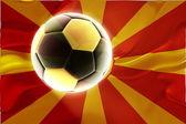 Flag of Macedonia wavy soccer — Stock Photo