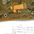 Printed circuit board — Stockfoto