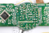 Circuit board close-up — Zdjęcie stockowe