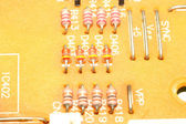 Resistors on circuit board — Stock Photo