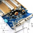 Circuit printed board — Stock Photo