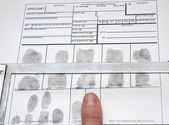 Taking off the fingerprints — Stock Photo
