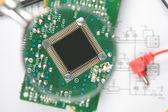 Microprocessor close-up — Stock Photo