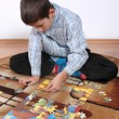 Boy playing puzzle — Stock Photo #1984944