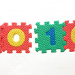 Puzzle year 2010 — Stock Photo #2031587