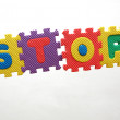 """stop""  inscription — Stockfoto"