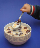 Cereals on the breakfast — Stock Photo