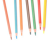 Striped coloured pencils — Stock Photo