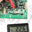 Printed circuit board and meter — Stock Photo
