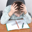 Difficult homework — Stock Photo