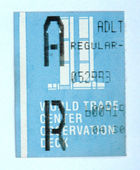 WTC original ticket — Stock Photo