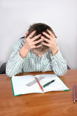 Hard homework — Stock Photo