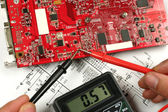 Circuit board and electronic meter — Stock Photo