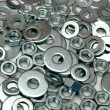Washers and nuts — Stock Photo