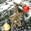 Star and Christmas balls — Stock Photo #2368403