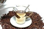Bereiten Sie den Kaffee — Stockfoto