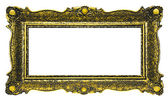 Antique Gold Picture Frame - Rectangle — Stock Photo
