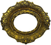 Antique Gold Picture Frame - Oval — Stock Photo