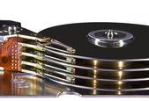 Disco rígido - cabeças magnéticas — Fotografia Stock