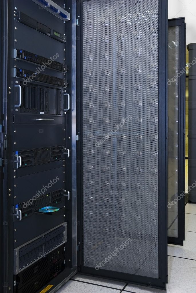 Computer server rack  — Stock Photo #1925130