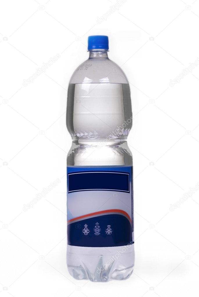 Bottled water with blank label stock photo skaljac for Mineral water label template