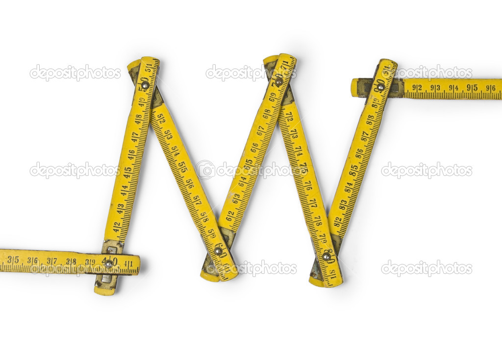 Folding ruler zig zag — Stock Photo #1953102