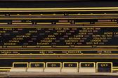 European cities radio frequencies — Stock Photo