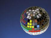 迪斯科球与副本空间 — 图库照片