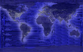 Electric world concept - world map — Stock Photo