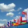 European continent national flags — Stock Photo