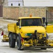 Stock Photo: Road construction machinery