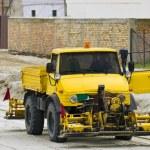 Road construction machinery — Stock Photo