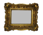 Two empty wooden picture frame — Stock Photo