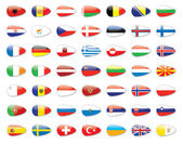 All europe country flags — Stock Photo