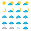 Stock Vector: Weather signs