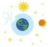 地球与破碎臭氧层 — 图库矢量图片