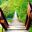 Royalty-Free Stock Photo: Old wooden bridge