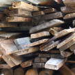 Royalty-Free Stock Photo: Firewood combined in a woodpile