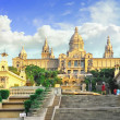 Placa De Espanya, the National Museum in Barcelona. Spain — Stock Photo #1897639