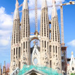 Temple Sagrada Familia in Barcelona, Spain. — Stock Photo