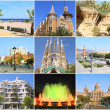 Collage all Barcelona. Spain - Stock Photo
