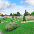 View of the Chinese park. - Stock Photo