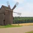 Old windmill in the Ukrainian village, near the Kiev city. Ukraine. — Stock Photo