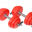 Stock Photo: Two sport dumbbell. Isolated